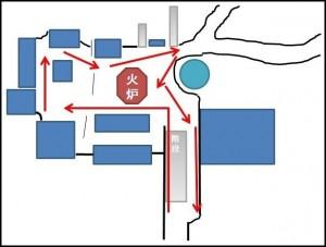 吉田神社交通規制時の順路図01