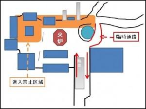 吉田神社交通規制時の順路図02