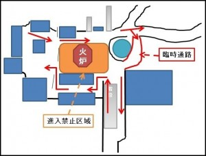 吉田神社交通規制時の順路図03